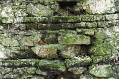 Oude bakstenen muur als achtergrond Stock Foto's