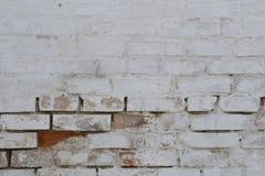 Oude bakstenen muur als achtergrond Stock Afbeelding