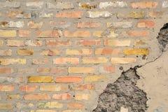 Oude bakstenen muur als achtergrond Royalty-vrije Stock Foto's