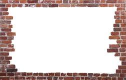 Oude bakstenen muur als frame 01 Stock Foto