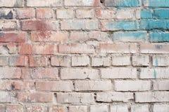 Oude bakstenen muur, bekgraund Royalty-vrije Stock Afbeeldingen