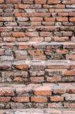 Oude bakstenen muur bij het historische park van Phichit, Thailand Royalty-vrije Stock Foto