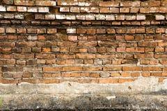 Oude bakstenen muur in de tempel van Thailand Royalty-vrije Stock Foto's