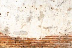 Oude bakstenen muur in de tempel van Thailand Stock Afbeeldingen