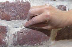 Oude bakstenen muur die 3 herstellen Royalty-vrije Stock Afbeeldingen