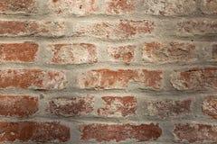 Oude bakstenen muur in een achtergrond Royalty-vrije Stock Fotografie