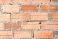 Oude Bakstenen muur het vignetvoorgevel van het vestings binnenlandse blok wallpape Royalty-vrije Stock Foto's