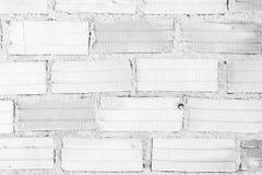 Oude Bakstenen muur het vignetvoorgevel van het vestings binnenlandse blok wallpape Stock Afbeelding