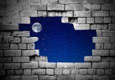Oude bakstenen muur met sterren Stock Foto's