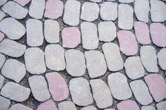 Oude bakstenen muur met witte en rode bakstenenachtergrond Uitstekende bakstenen muurtextuur Royalty-vrije Stock Foto