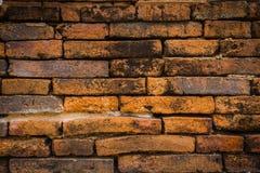 Oude bakstenen muurachtergronden Stock Foto's