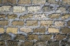 Oude bakstenen muurshell als achtergrond Royalty-vrije Stock Fotografie