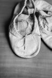 Oude balletschoenen Royalty-vrije Stock Afbeeldingen