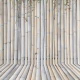 Oude bamboeomheining, achtergrond Stock Afbeelding