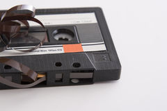 Oude bandcassette stock foto's