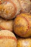 Oude Baseballs Stock Foto