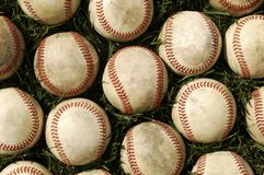 Oude Baseballs Stock Fotografie
