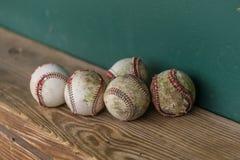 Oude Baseballs royalty-vrije stock fotografie