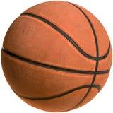 Oude basketbal-Knippende Weg Royalty-vrije Stock Afbeelding