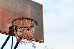 Oude basketbalhoepel Royalty-vrije Stock Foto