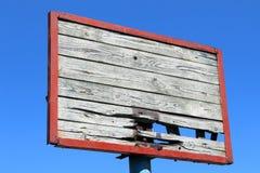 Oude basketbalrugplank Stock Fotografie