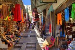 Oude bazaar in Jeruzalem, Israël. Stock Afbeeldingen