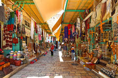 Oude bazaar in Jeruzalem, Israël. royalty-vrije stock fotografie
