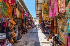 Oude bazaar in Jeruzalem, Israël Stock Foto's