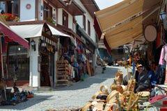Oude Bazaar in Ulus, Ankara royalty-vrije stock foto