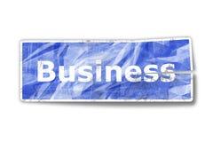 Oude bedrijfssticker Stock Foto's