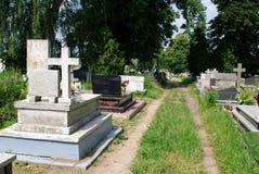 Oude begraafplaats Royalty-vrije Stock Foto