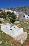 Oude begraafplaats in Chefchaouen, Marokko stock afbeelding