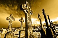 Oude begraafplaats op belfast.crosses Stock Afbeeldingen