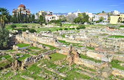 Oude begraafplaats van Athene Kerameikos Griekenland Royalty-vrije Stock Afbeeldingen