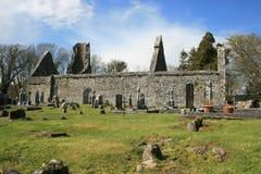 Oude begraafplaatsruïnes stock foto's