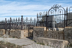 Oude begraafplaatsscène Stock Foto