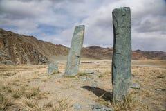 Oude begrafenisplaats in Mongolië Royalty-vrije Stock Foto