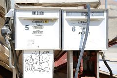 Oude Benzinepomp royalty-vrije stock foto's