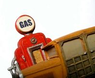 Oude Benzinepomp Royalty-vrije Stock Afbeelding
