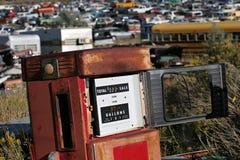 Oude benzinepomp Royalty-vrije Stock Foto