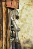 Oude benzinepompen Royalty-vrije Stock Foto