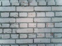 Oude beschadigde bakstenen muur stock fotografie