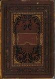 Oude beschadigde boekdekking (1888) royalty-vrije stock afbeelding