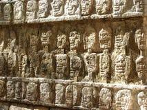 Oude Beschadigde Muur in Mexico Stock Foto