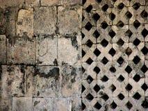 Oude Beschadigde Muur in Mexico Royalty-vrije Stock Afbeelding