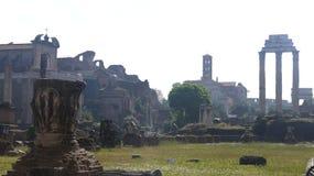 Oude Beschavingsruïne in Rome Italië Stock Afbeeldingen