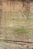 Oude bevlekte bakstenen muur Stock Afbeeldingen