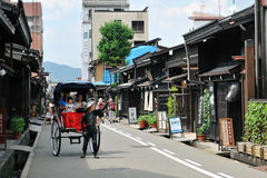Oude Bewaarde Straat (Takayama, Japan) Stock Afbeeldingen