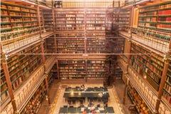 Oude-bibliotheek stockfoto