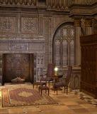 Oude bibliotheek 2 royalty-vrije illustratie